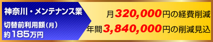 ETCコーポレートカード経費削減事例:神奈川・メンテナンス業年間384万円の削減見込