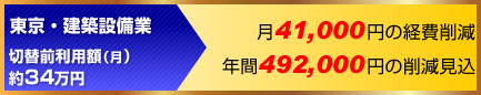 ETCコーポレートカード経費削減事例:東京・建設整備業年間49万円の削減見込